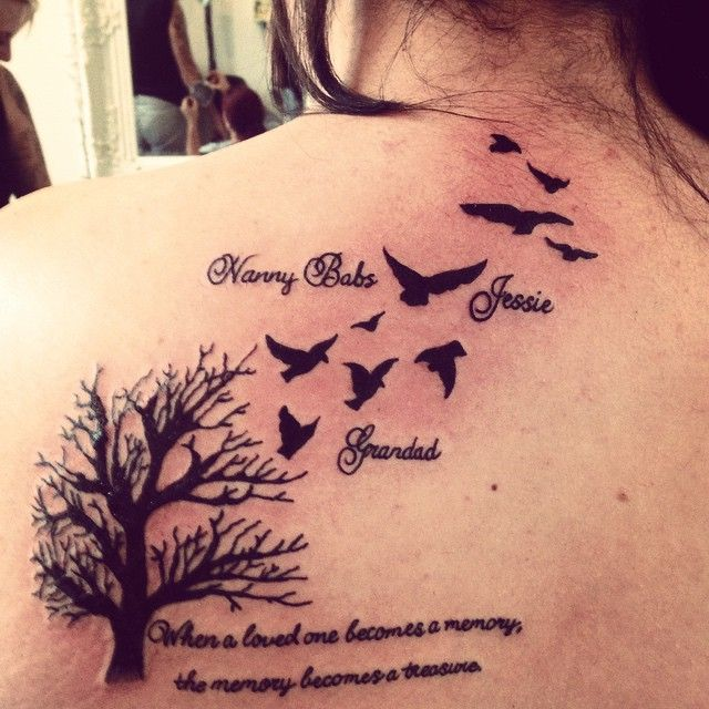 My newest tattoo in memory of my 3 loved and lost beauty 39 s nanny babs grandad jessie - Tatouage amour perdu ...