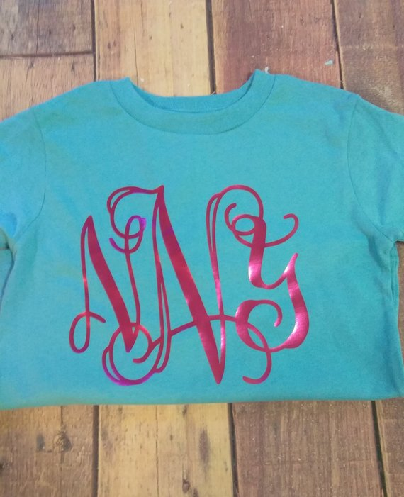 Kids Monogram Shirt Personalized Toddler Tee Girls Clothes With Initials Birthday Gift Ch