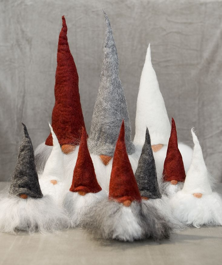 These Handmade Swedish Tomte Dolls Are Welcome Any Time Of The Year Not Only For Christmas Scandinavian Christmas Swedish Christmas Christmas Gnome