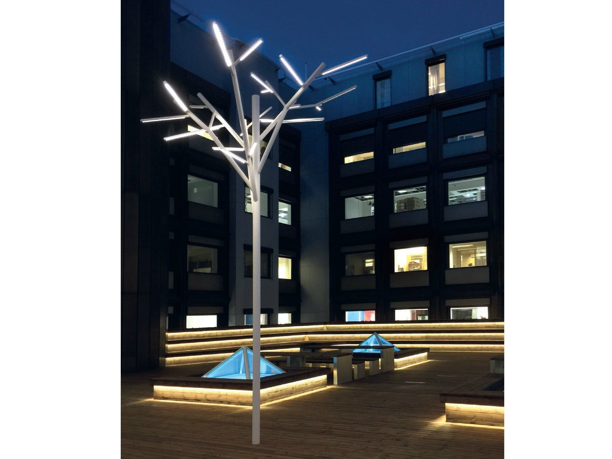 Led decorative lighting albero by iguzzini illuminazione design enzo
