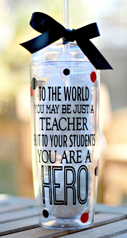 Personalized teacher tumbler teacher cup teacher