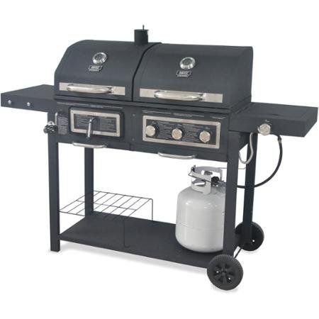 In Gas Charcoal Grill