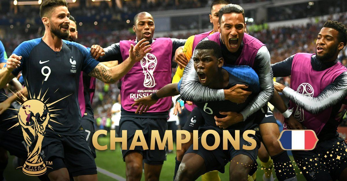 France Vs Croatia Highlights Fifa World Cup Final Match Video With Images World Cup Champions World Cup World Cup Final