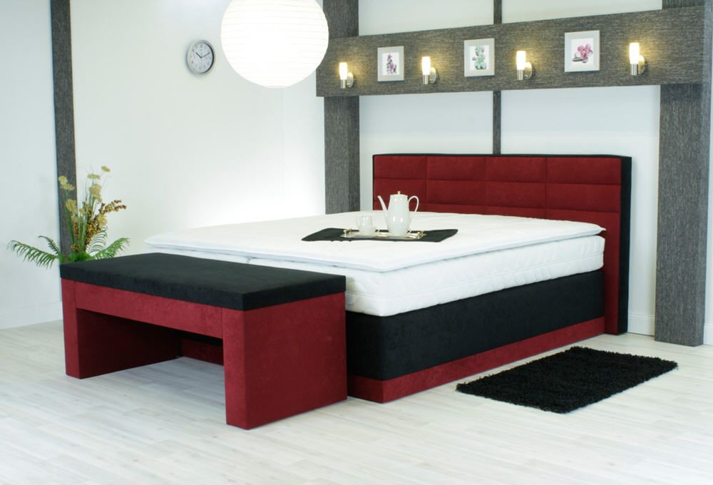 lit 2 personnes t te de lit sommier ressorts matelas 7 zones 3 suisses pas cher. Black Bedroom Furniture Sets. Home Design Ideas