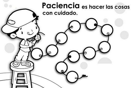 Paciencia Educar En Valores Dibujos Para Preescolar Dibujos De
