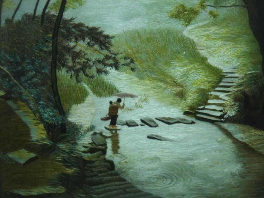 Image result for stepping stones acrylic canvas painting