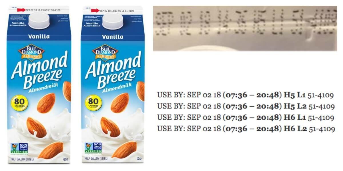 Almond Breeze Almond Milk Recalled Due To Possible Milk Contamination Almond Breeze Almond Milk Food Recalls