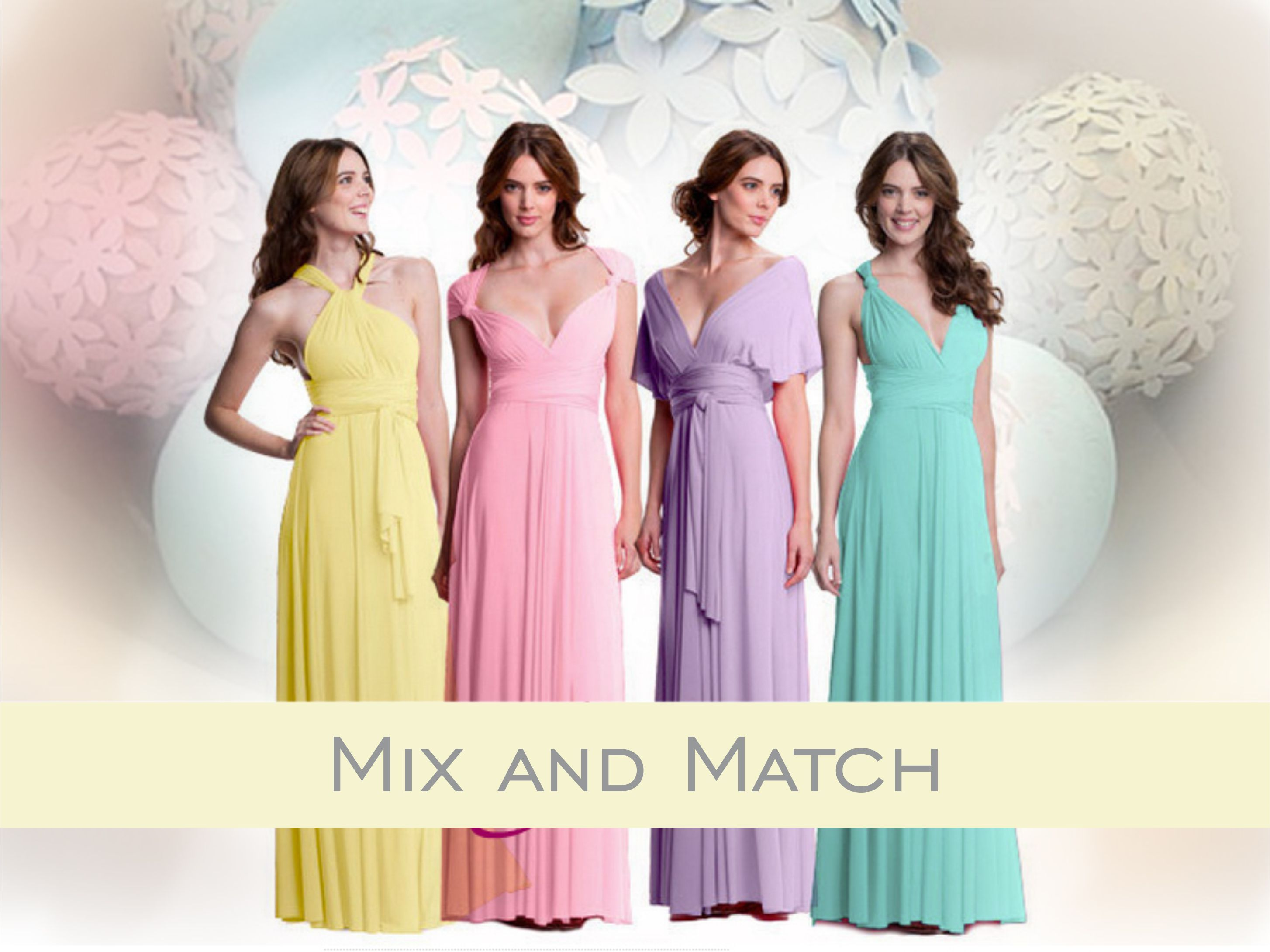 Colour Play – Mismatched Bridesmaids | Infinity dress blogs ...