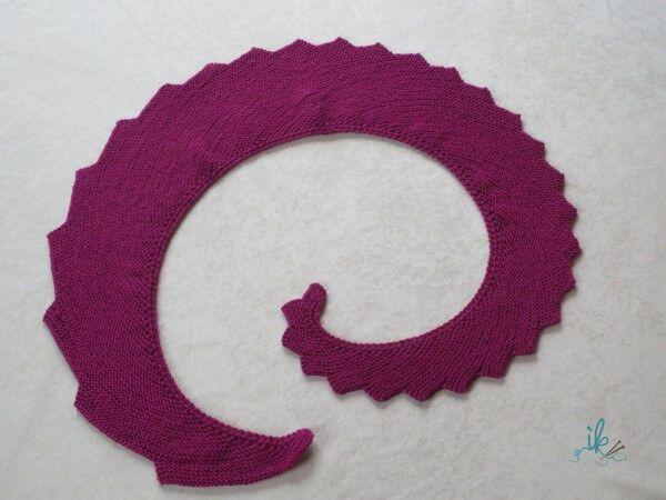 Drachenschwanz Drachenschal Stricken Stricken Pinterest