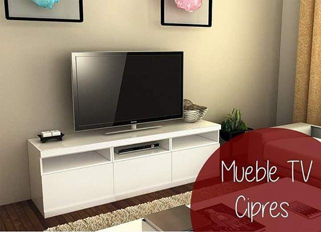 Mueble tv Ciprés Todo laqueado en color blanco Gran espacio de - mueble minimalista