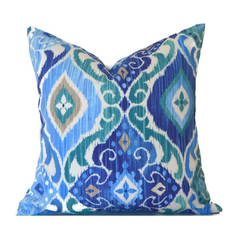 Ikat Outdoor Pillows ANY SIZE Outdoor Cushions Outdoor Pillow Covers Fascinating Best Fabric For Decorative Pillows