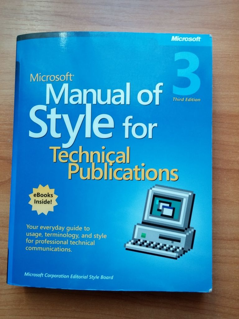 Microsoft Manual Of Style English Textbook About Me Blog Learning
