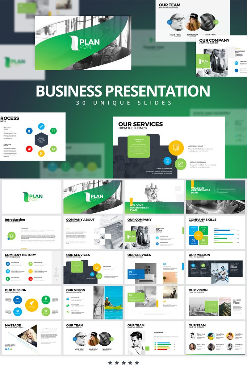 Plan Point PowerPoint Template 80204 Business