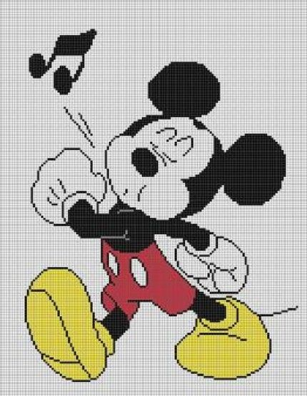 Crochet patterns mickey mouse afghan graph e-mailed.pdf #496 Afghan pattern...