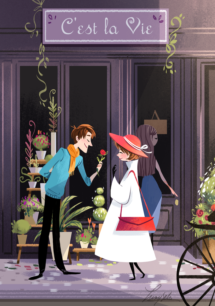 spring - love is in the air theme - flower shops etc, artist?