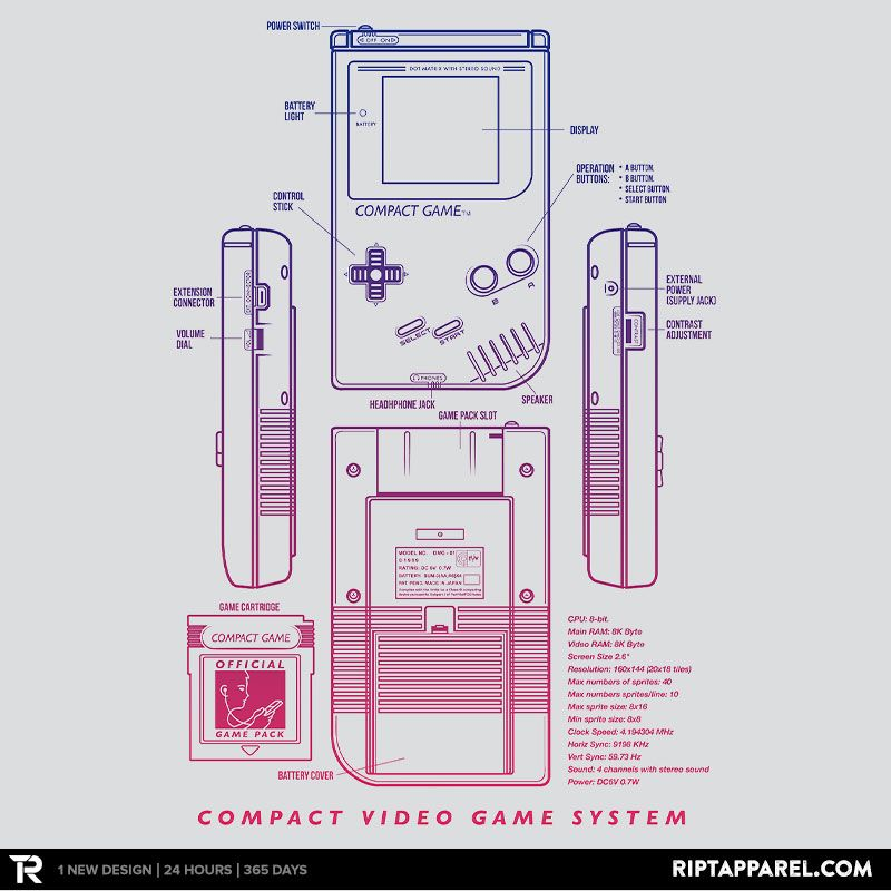 Get compact game from artist meleeninja today only june 8 for basic console blueprints designs by adam rufino classic console blueprints designs here malvernweather Choice Image