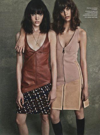 Anya Lyagoshina & Antonina Petkovic by Mariano Vivanco for Vogue Russia September 2014
