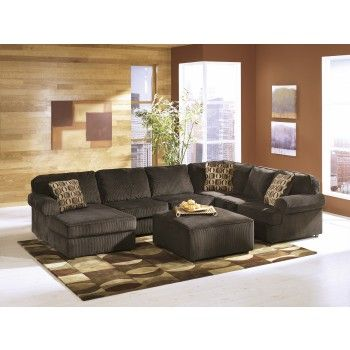 Vista - Chocolate 3 Pc. LAF Chaise Sectional | Ashley ...