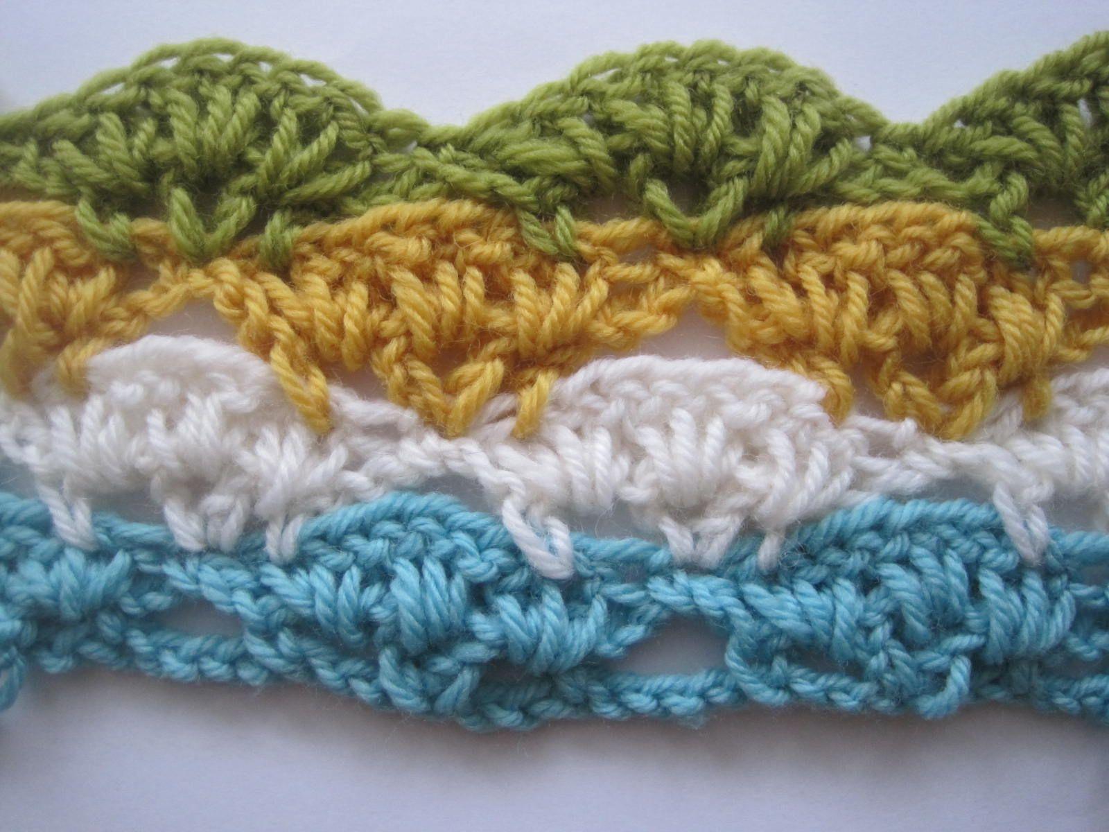 Scallop Stitch. First of 4 tutorials on muti-color ...