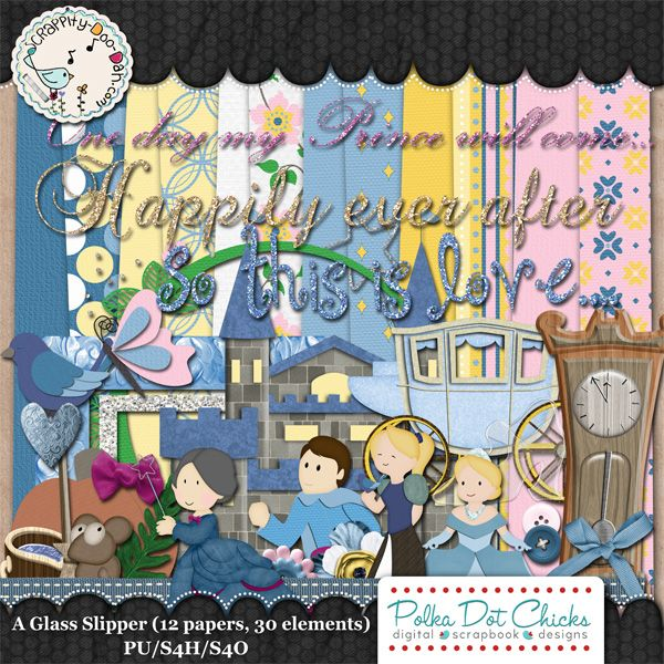 A Glass Slipper by Polka Dot Chicks