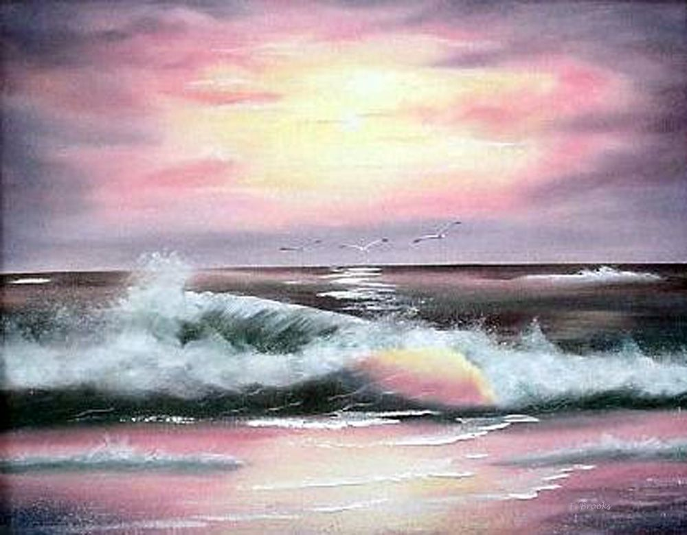 Original Art Twilight Surf By North Carolina Artist Fran Brooks Www Artistnannie Com North Carolina Artists Seascape Art Original Art
