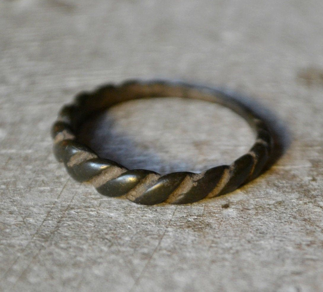 Viking Twisted Ring Rare Viking Artifact Norse Ring 12th Century Viking Jewelry Bracelets For Men Viking Ring