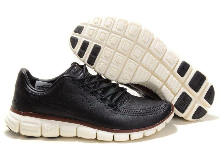 Nike Free 5.0 V4 Deconstruct Mens Store Running Shoes Black/Sail