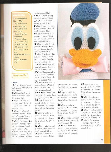 Paperino Disney Donald Duck Amigurumi 1 Magiedifiloit Punto Croce