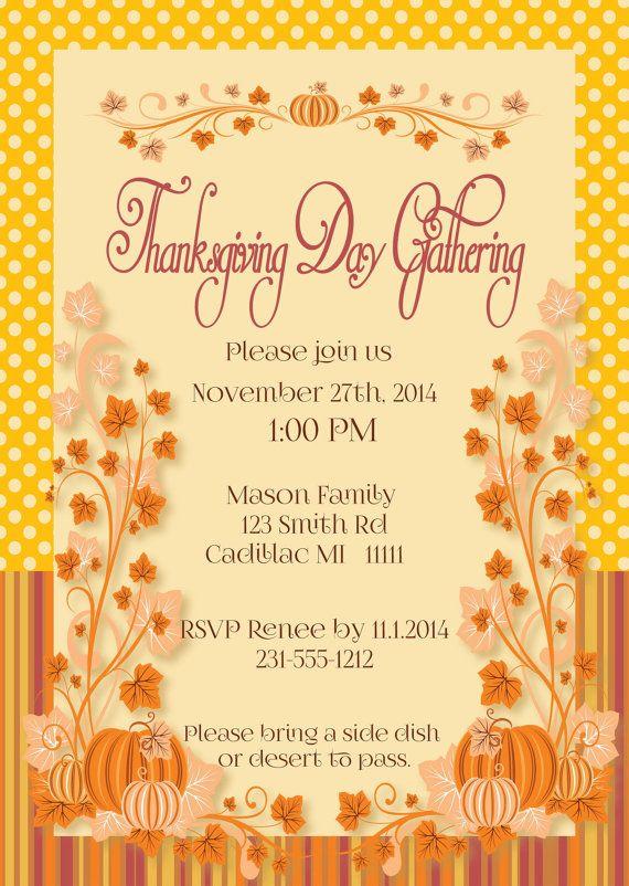 thanksgiving invitation thanksgiving day dinner by fabpartyprints