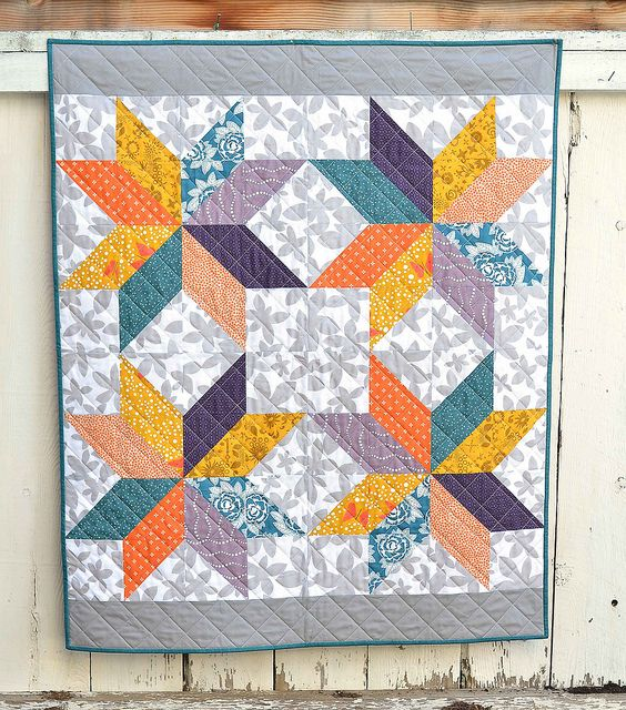 Lemoyne star baby quilt kitchen table quilting baby for Kitchen quilting ideas