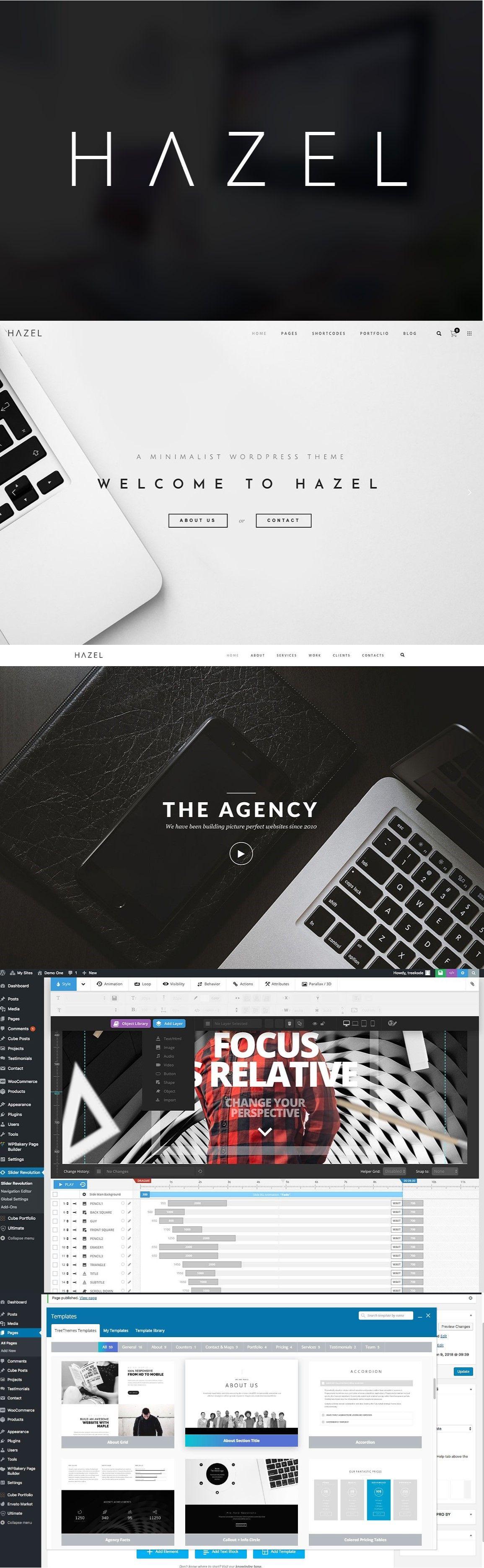Hazel MultiPurpose WordPress Theme Blog navigation