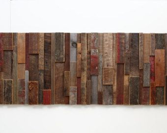 Wood Art Wall reclaimed wood wall art contemporary - google search | home office