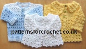 9aa07b7d22cd Free e-book for 3 matinee coats when you follow  patternsforcrochet ...
