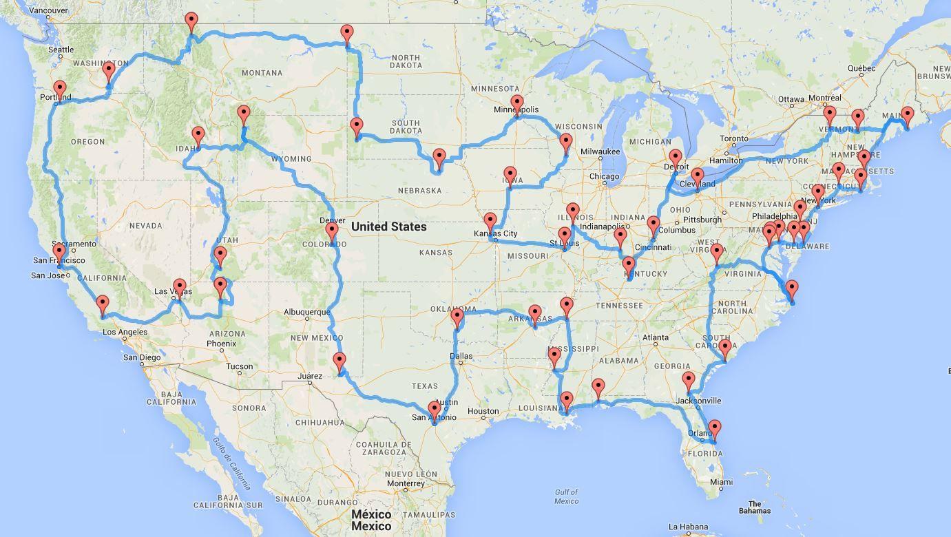 La Mejor Ruta Que Encontraras Para Viajar Por Estados Unidos