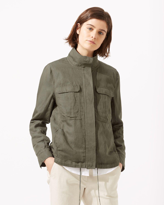 44fab89e4e4 Linen Mix Military Jacket