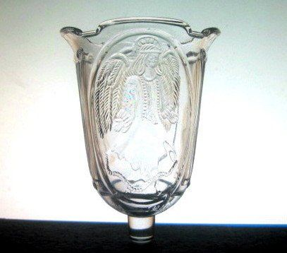Home Interiors Peg Votive Candle Holder Angel Columns Scalloped Heavy