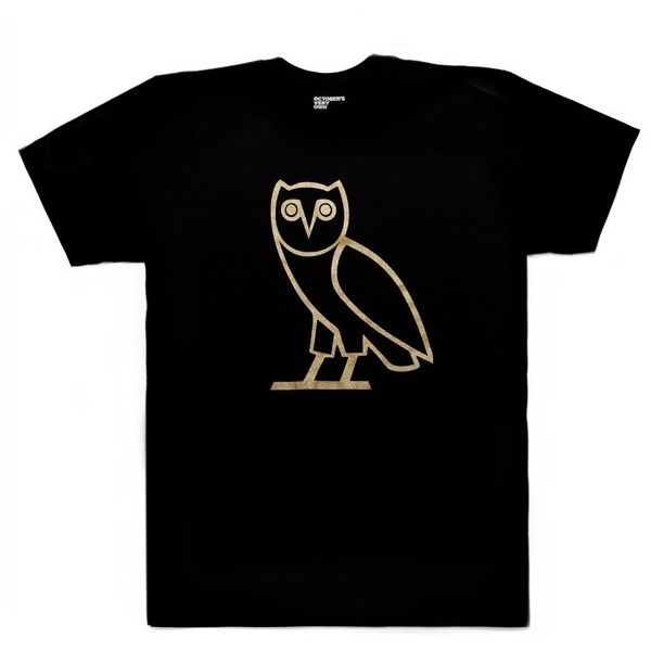 Classic Owl Tee OVO CORE COLLECTION October's Very Own ($40) ❤ liked on Polyvore featuring t-shirts
