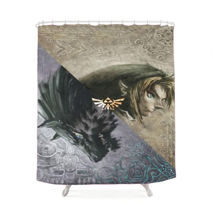 The Legend Of Zelda Twilight Princess Shower Curtain Zelda