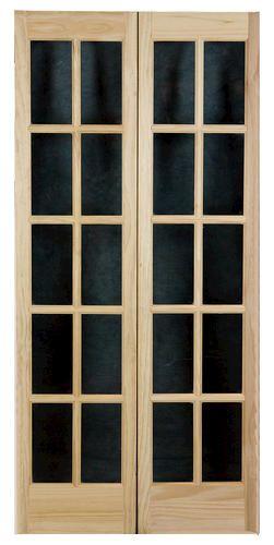 Awc Clear Pine 2 Leaf Bifold Divided 10 Lite Door 30w X 80h X 1 3