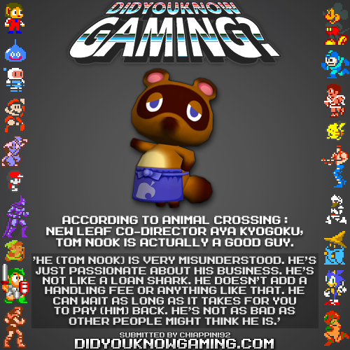 Tom Nook is not a bad guy?