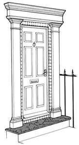Pediments for the home pinterest doors front doors - Exterior door pediment and pilasters ...