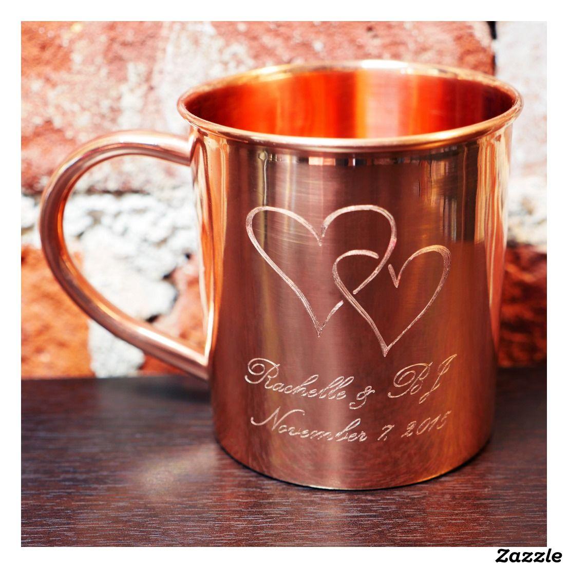 Wedding Gift Ideas Near Me: Custom Copper Love Mug - 14 Oz