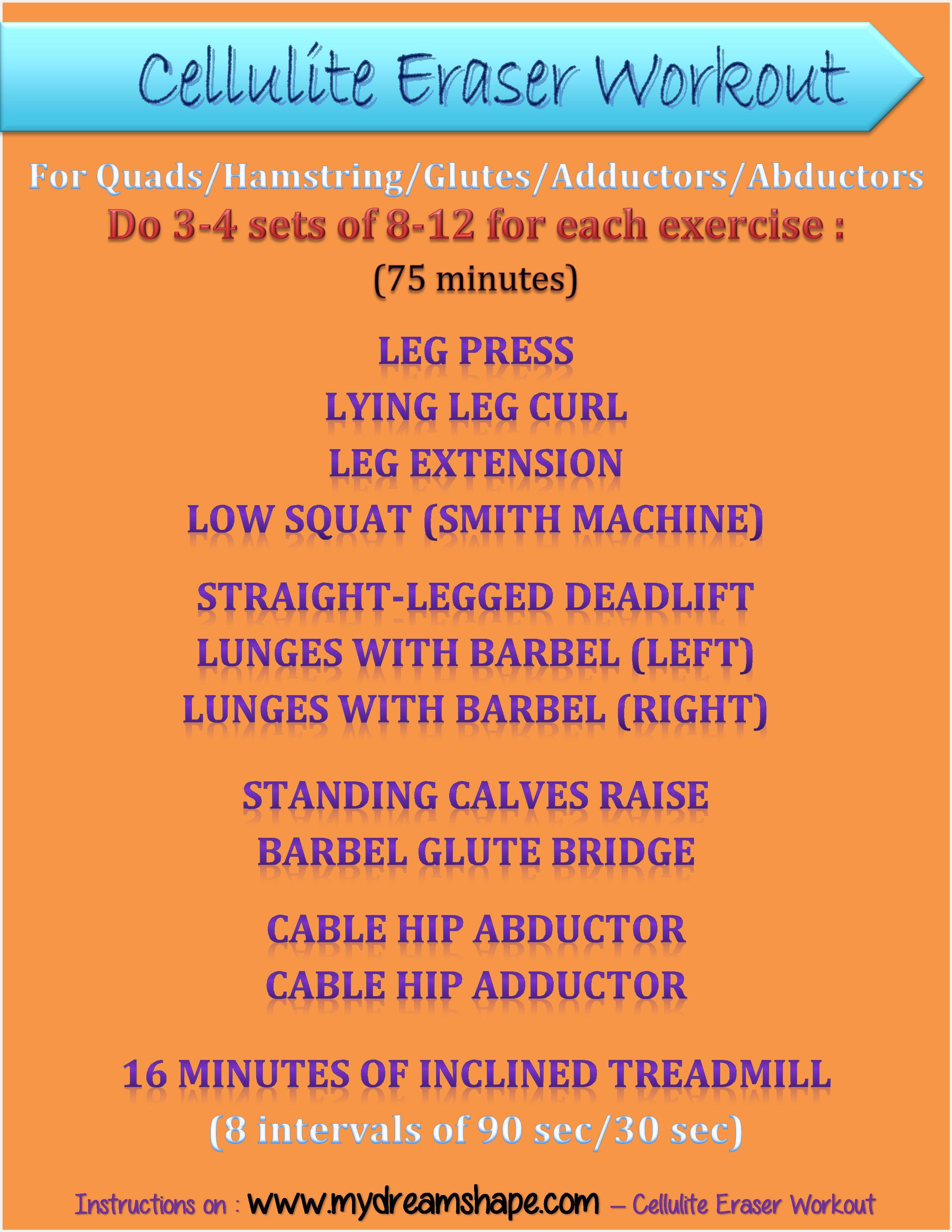cellulite Eraser Workout