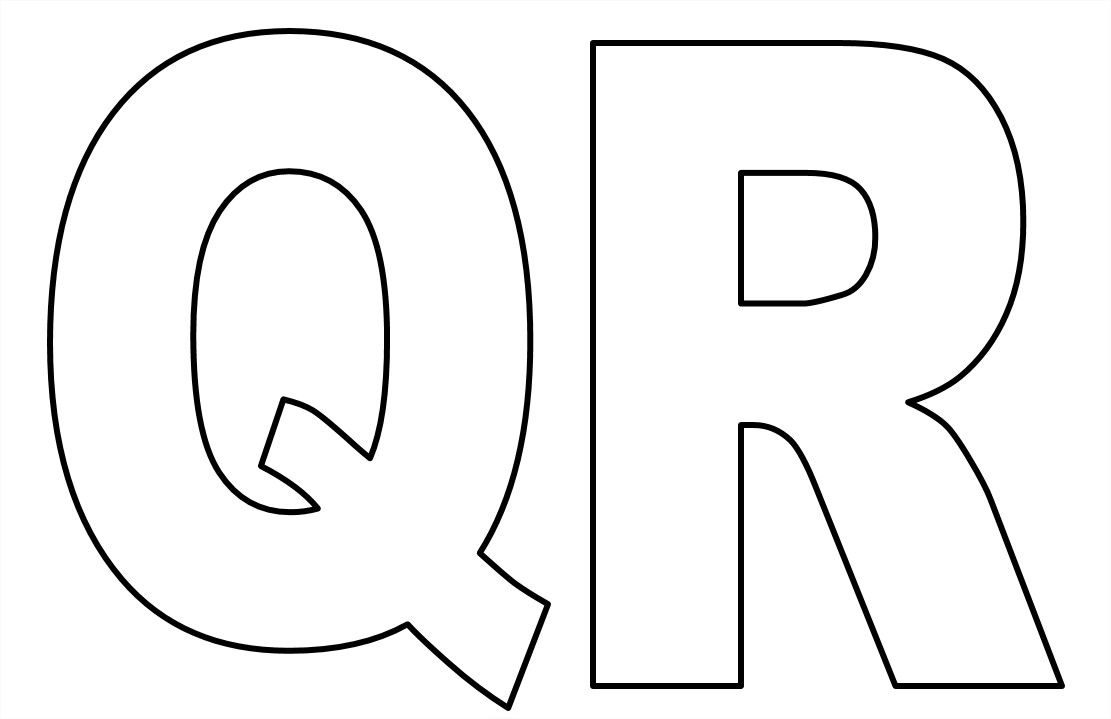 Favoritos Moldes de letras do alfabeto em tamanho grande para imprimir  DM22