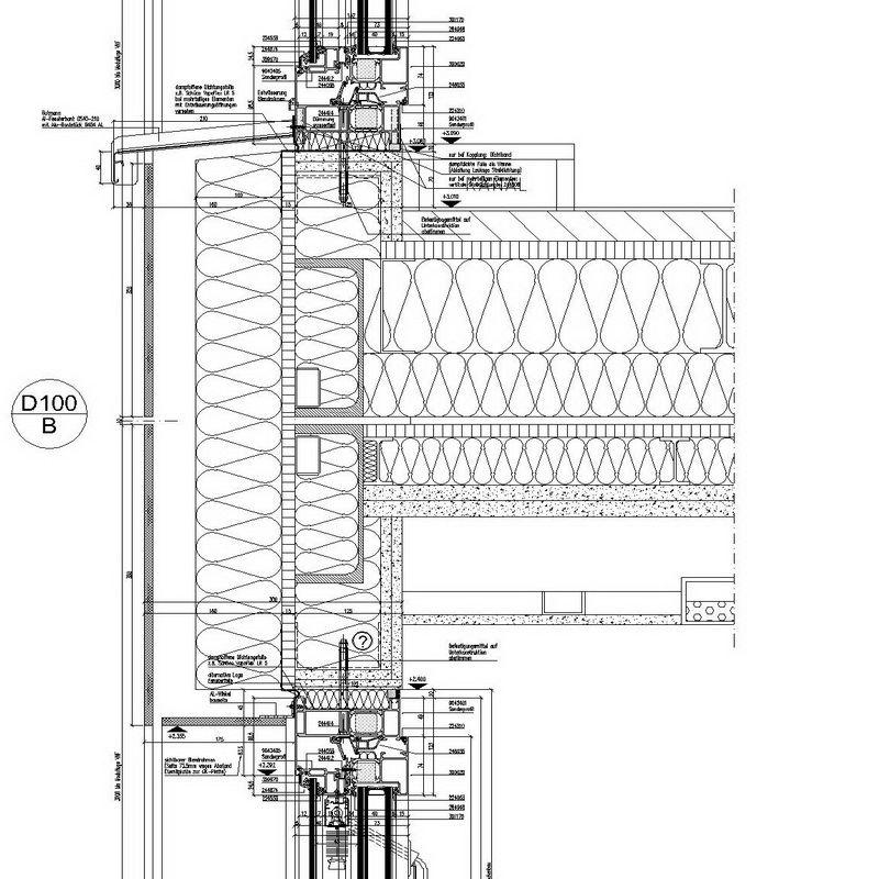 Vertical Section Fassadenschnitt Fassade Baukonstruktionen