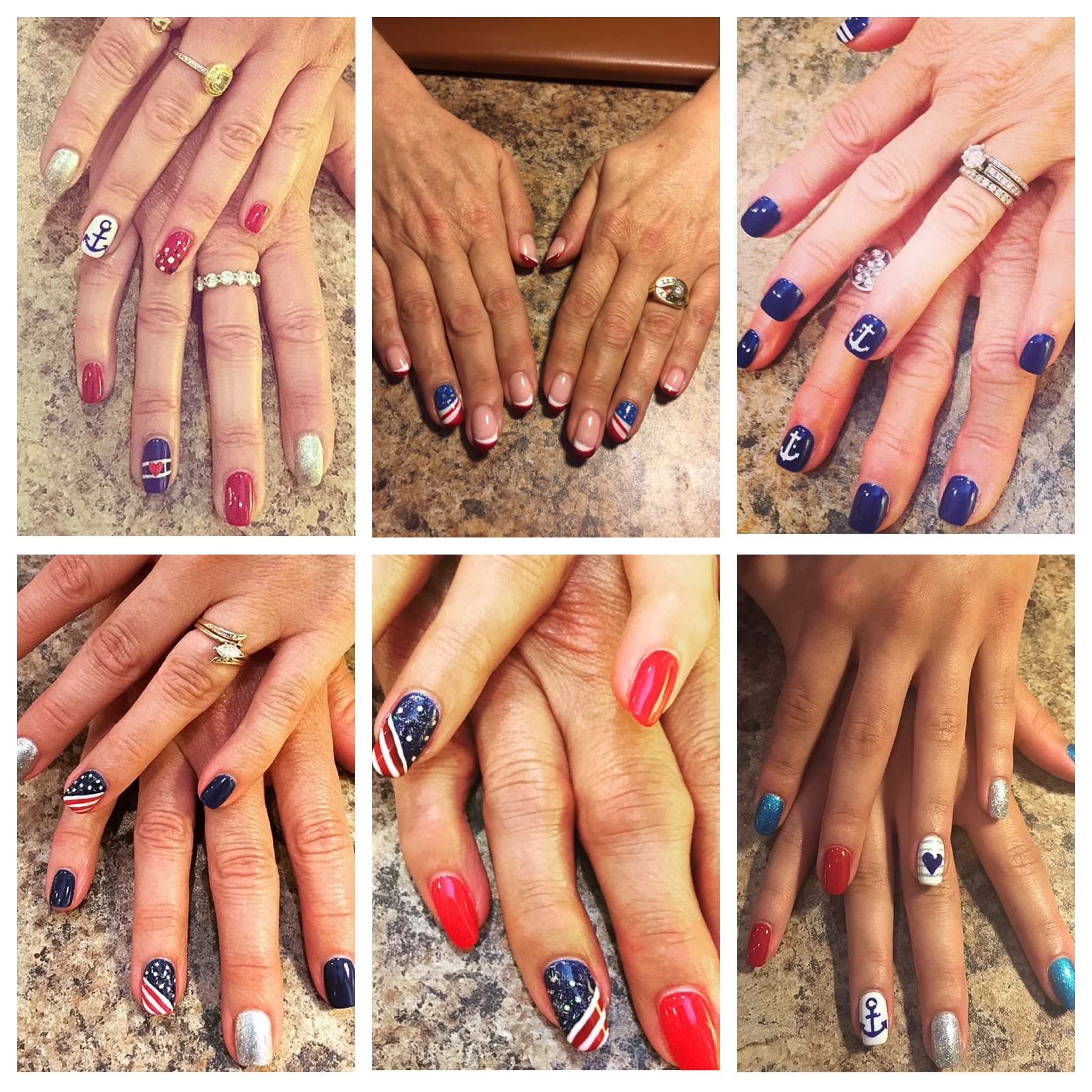 Red, White + Blue//Nail Art for YOU Nail art, Blue nail