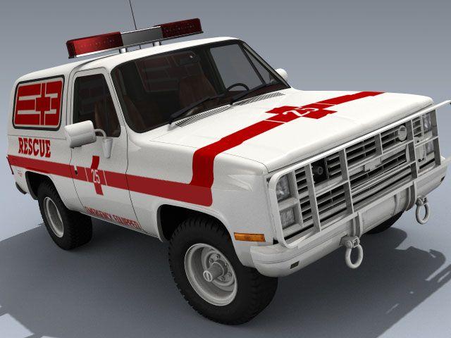 M1009 K5 Chevy Chevrolet Blazer Military Rescue Fire Truck Chevy