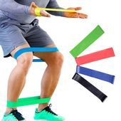 4 Levels Resistance Bands,Yoga Gym Strength Training Fitness Band, Elastic Rubber Resistance Loop Cr...