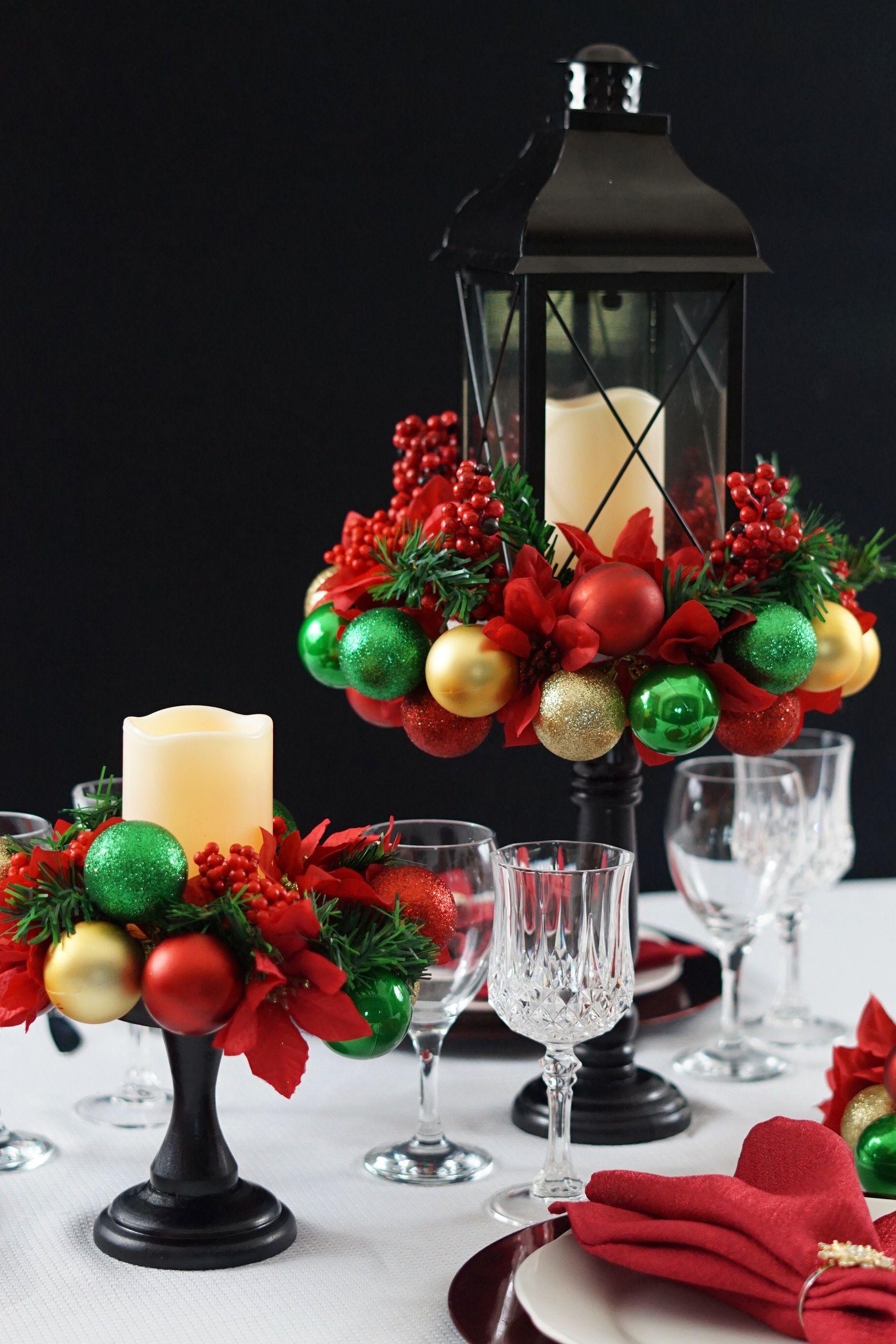 Christmas Table Centerpiece Easy