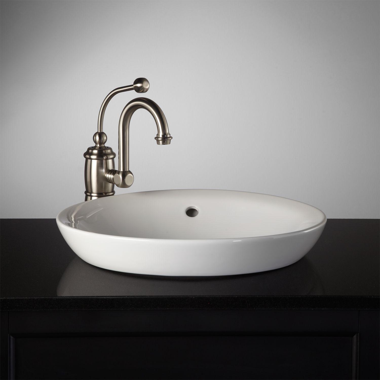 Milforde semirecessed porcelain sink bathroom ideas pinterest